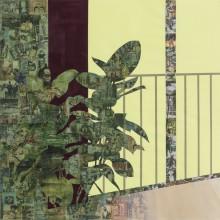 Bush Girl by Njideka Akunyili Crosby, 2015, Acrylic, transfers and colored pencil on paper
