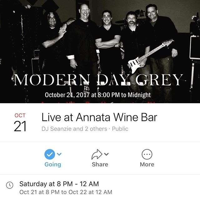 This Saturday, I'm opening up and playing in between sets for Modern Day Grey at Annata Wine Bar in Hammonton, NJ. These guys are a great time, great bar and you get to hear your favorite DJ play! Come out and enjoy a great time! Events on my Facebook page!
