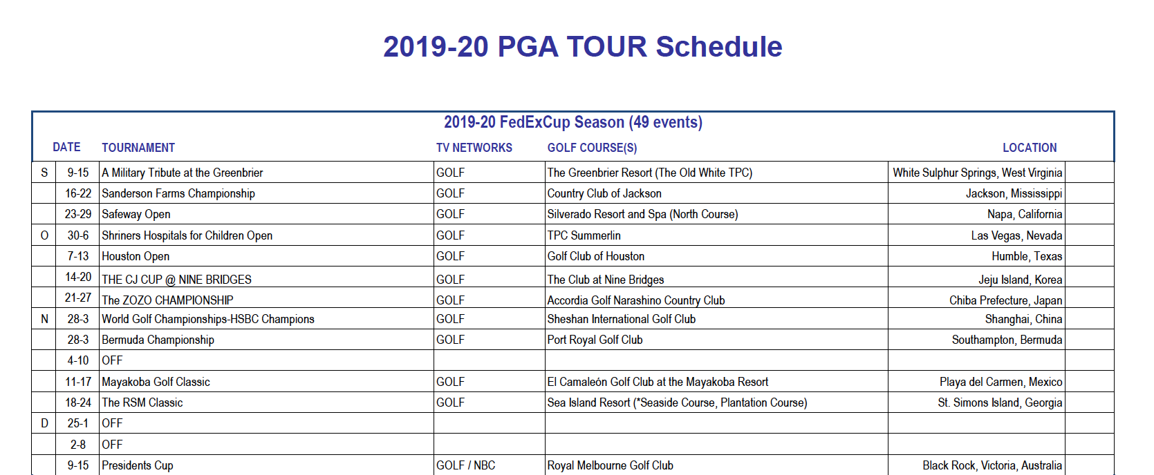 Christmas Events Houston 2019.Thanksgiving Christmas Beware Pga Tour Up To 49 Events In