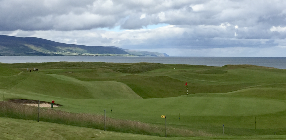 Looking back at Brora's 18th green three years ago.