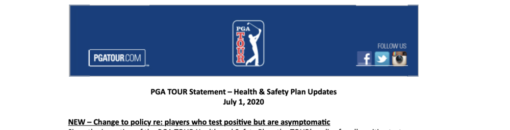 The Champ Rule Provides Hope For The World's Asymptomatic PGA Tour Pros (If They Subsequently Test Negative Twice)