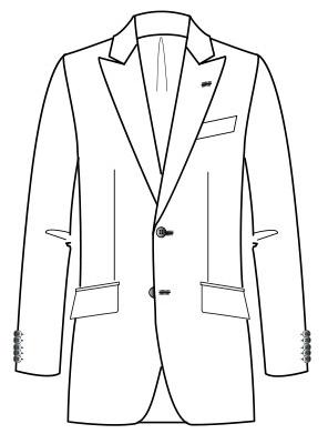 Costume Manuele  Adjusted cutting (Drop 7 Peak lapel