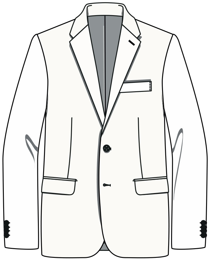 Costume Ginza  Coupe droite Notched lapel
