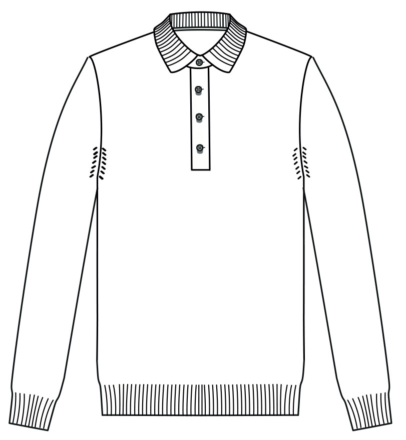 Eiden long sleeve polo