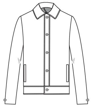 Ank-A semi-doubled jacket