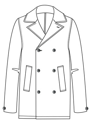 Dougy double-breasted sailor-style jacket