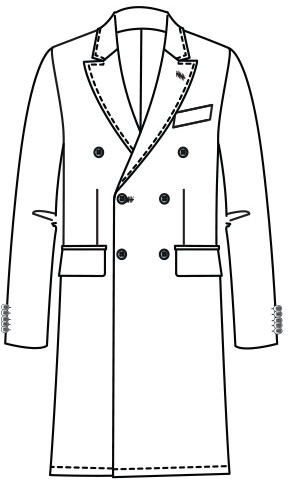 Dick double-breasted coat