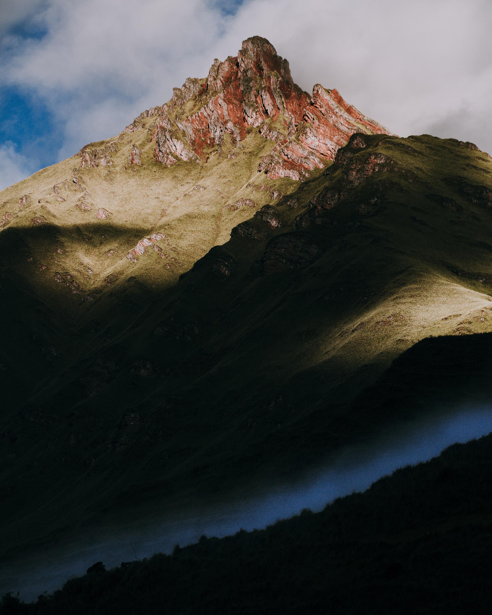 Peaks Surrounding Ancascocha on Trek to Machu Pichhu