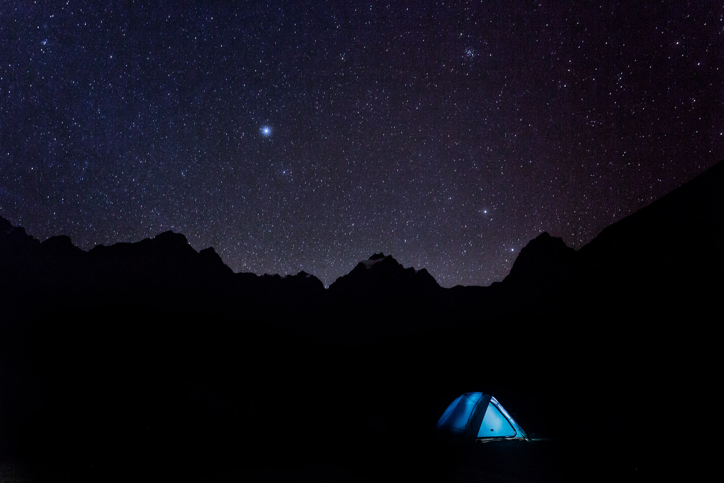 Camping under the Stars en our Trek to Machu Picchu