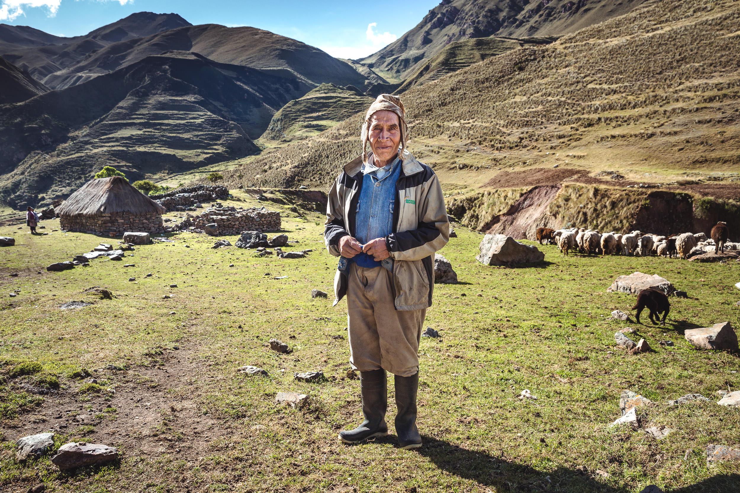 A Shepherd we met on our trek to Machu Picchu