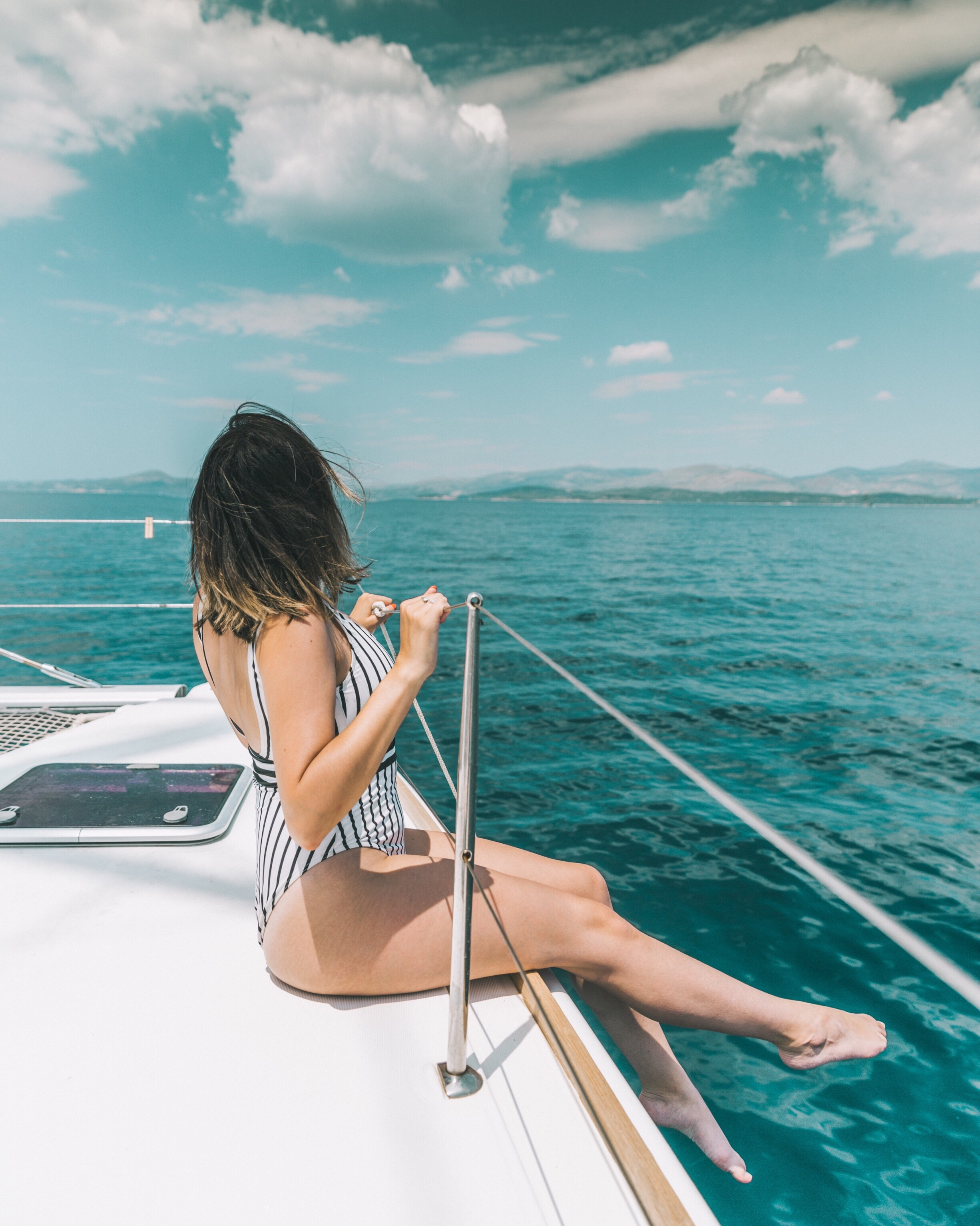 Mandy Sailing on the Med in ASOS