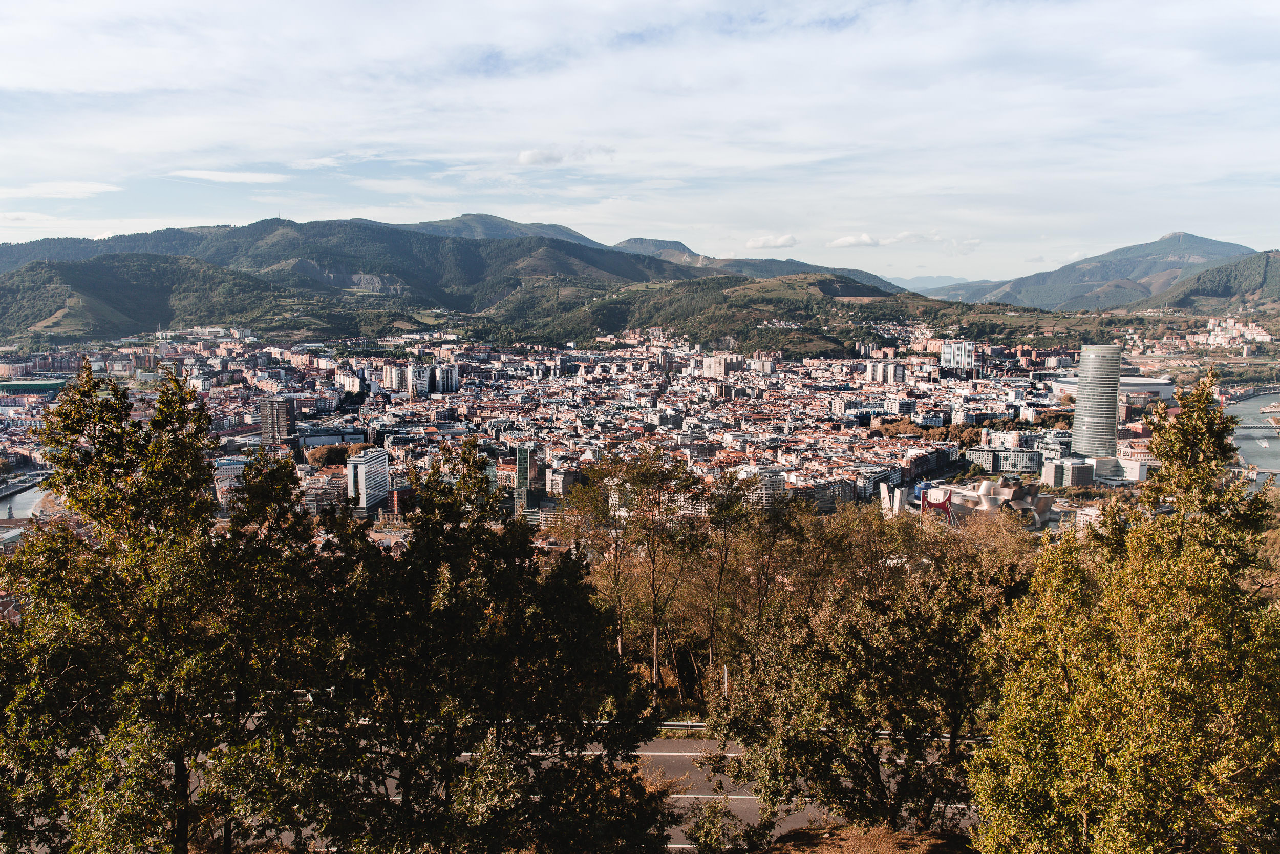The City of Bilbao as seen from Artxanda Mountain, Basque Country