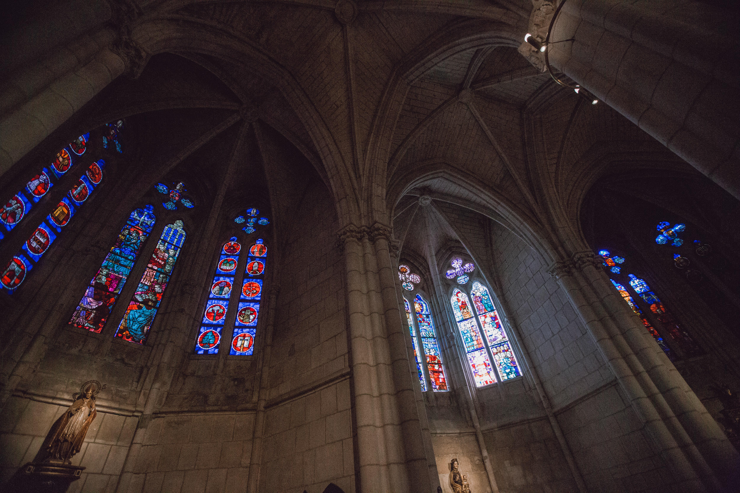 Beautiful Stained Glass Windows in the Santa Maria Catherdral, Vitoria-Gasteiz, Spain