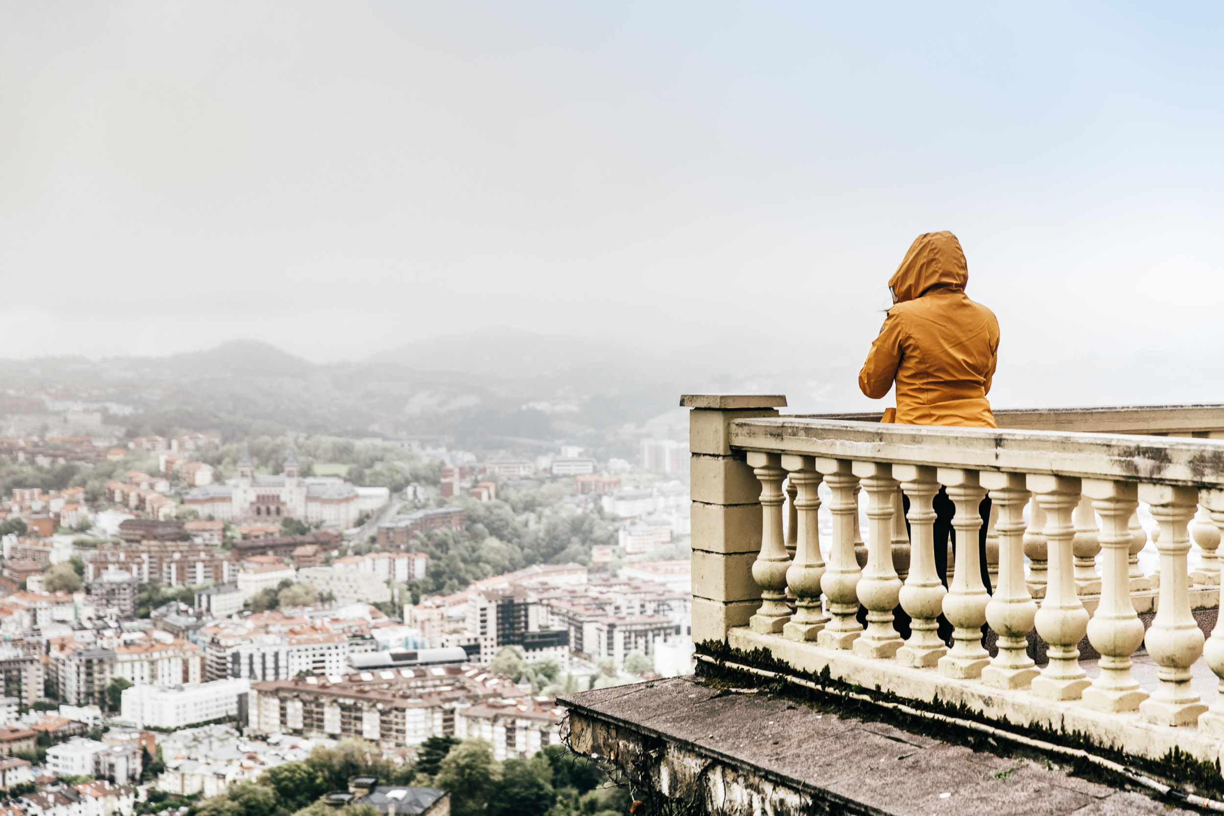 Mandy looks out over the city of San Sebastian in Northern Spain