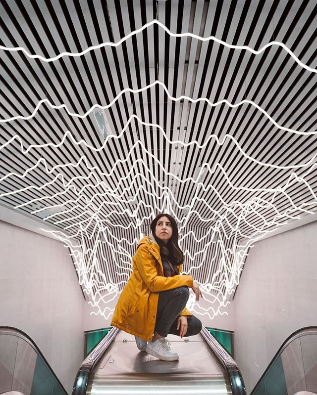 Popping a squat on an escalator in Stockholm, casual ✌🏻 * 📷: @photoammon, edited by me * I've been chilling in Stockholm with @epidemicsound and a load of amazing creators this week (this isn't a spon) and I feel so energised! I also feel like I'm doing something right. So excited to get some projects off the ground! * Also Stockholm has some crazy awesome subway stations! And this photo was taken when filming @haydos_pedersen photo battle series. You need to check it out. It's sick! . . . . . #flashesofdelight #visualmobs #theglobewanderer #travel #exploringtheglobe #travelon  #urbex #streetshared #aov #weekly_feature #createexploretakeover #shotzdelight #mkexplore #gearednomad #rsa_streetview #imaginatones #hsdailyfeature #schweden #stockholmsyndrome #igsweden #svezia #stockholmcity #stockholmsweden  #streetphotography
