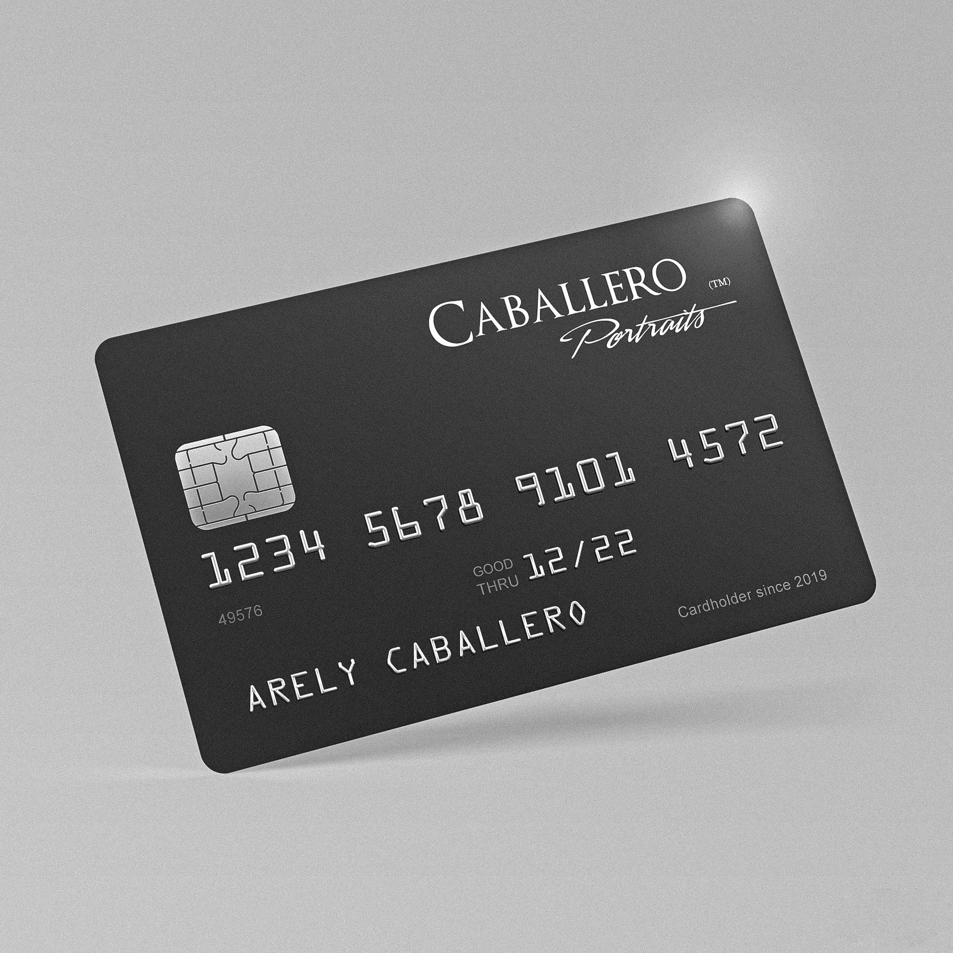 Tarjeta de Crédito de Caballero Portraits™