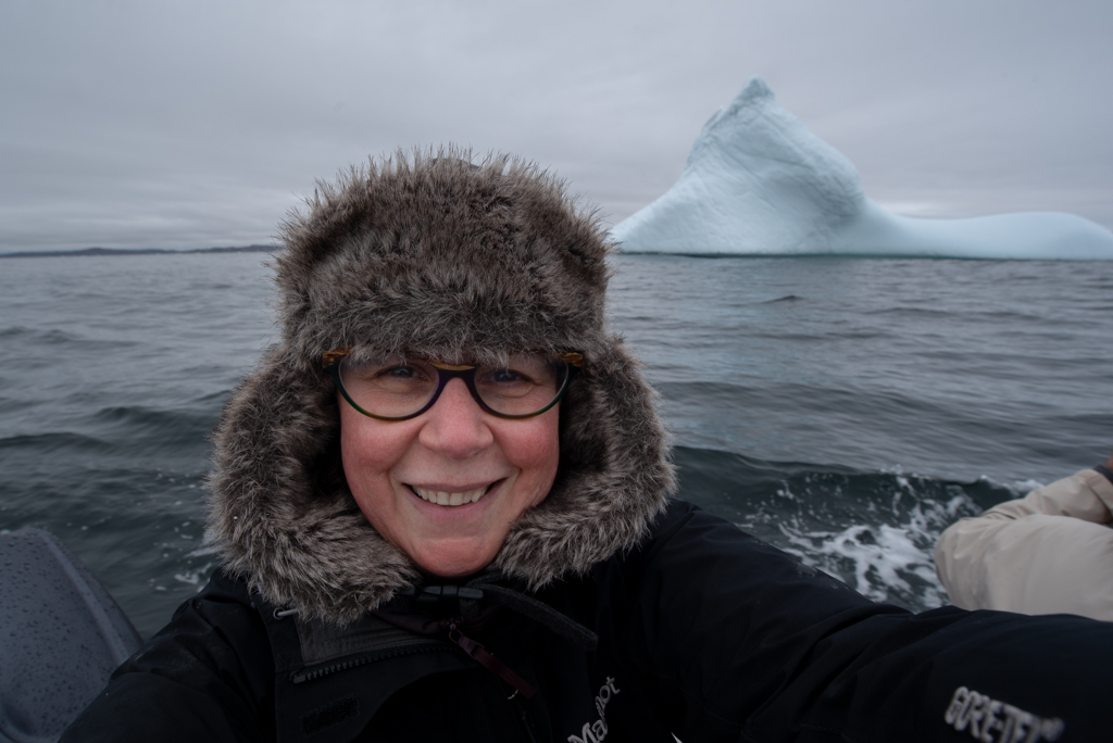 The required iceberg selfie. : )