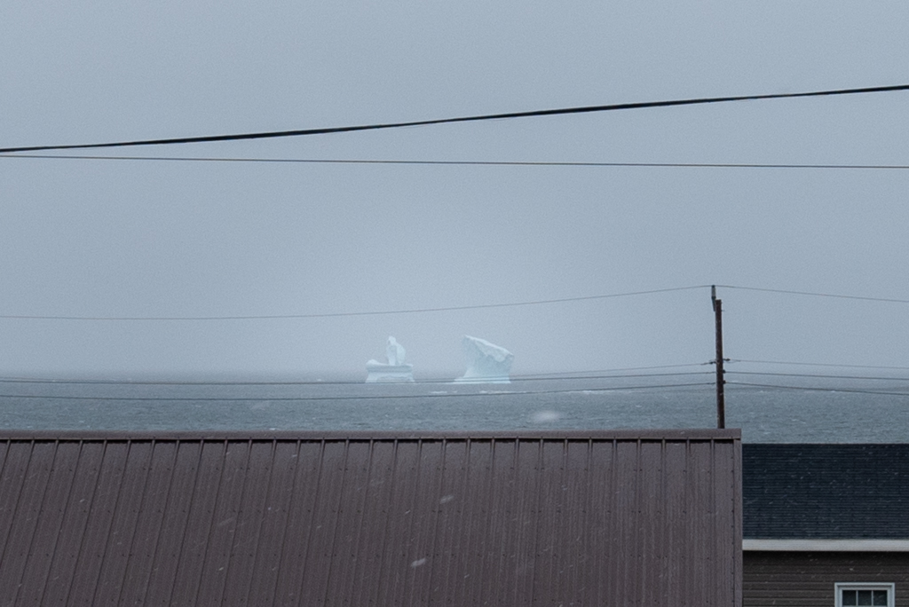 The iceberg, after it collapsed.