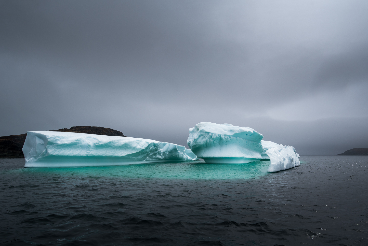 Icebergs look beautiful in overcast weather when the blues and greens really come through.