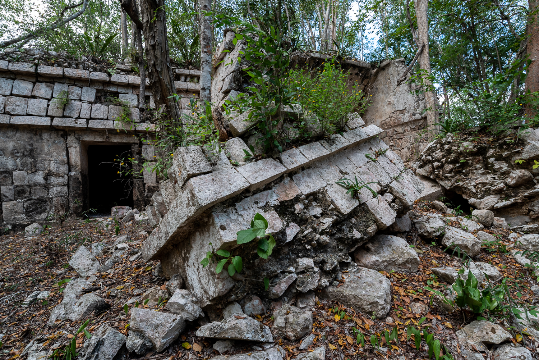 Fallen ruins at Kom.