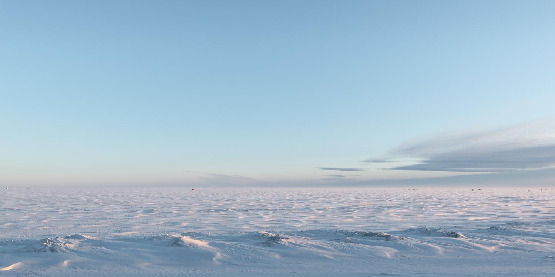 Frozen Lake Winnipeg.