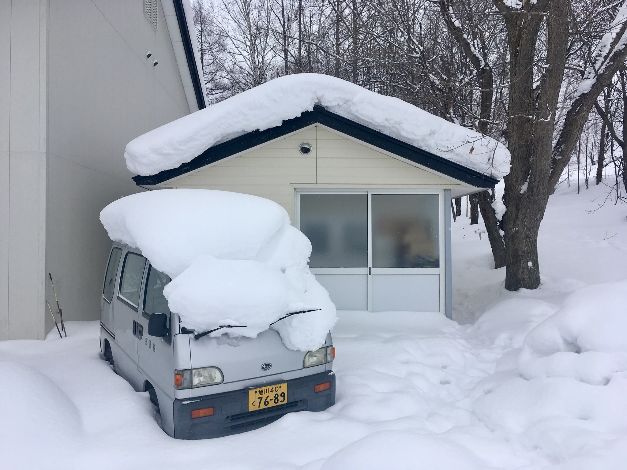 More things buried in snow in Hokkaido