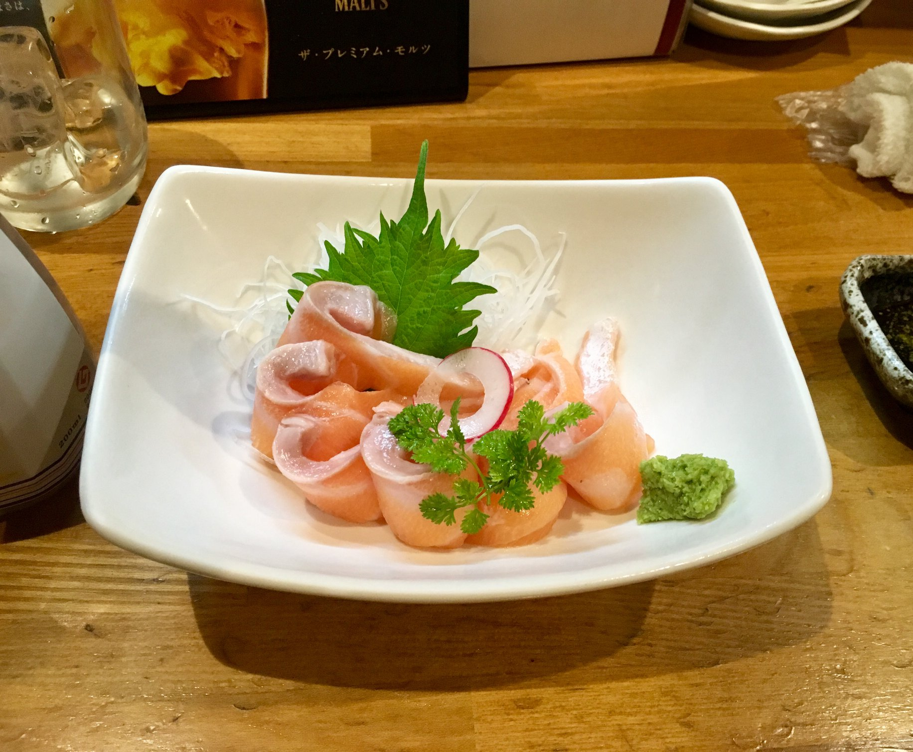 Wonderful izakaya sashimi.