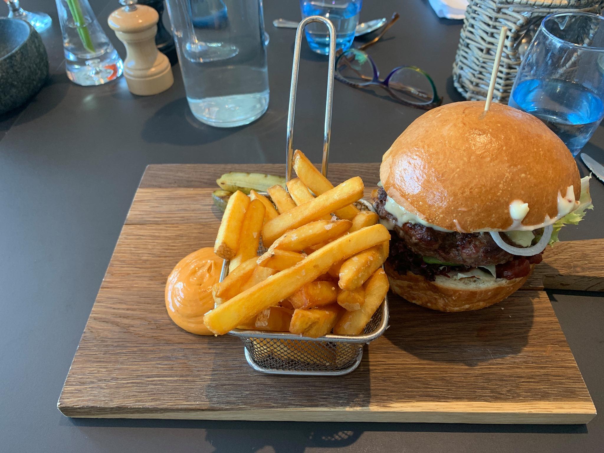 Muskox and reindeer burger.