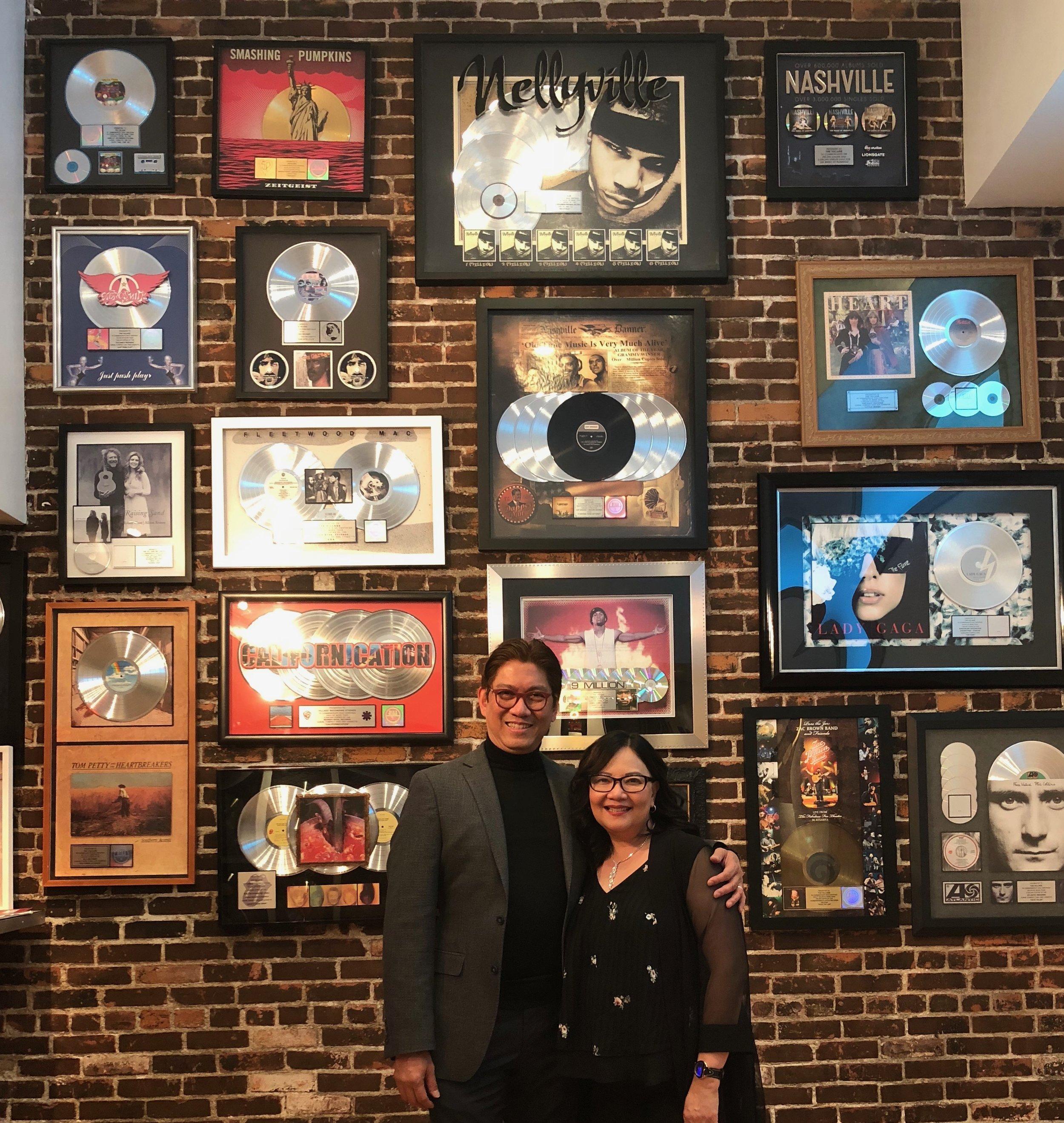 Elzar Simon with wife, Dr. Elisa Simon