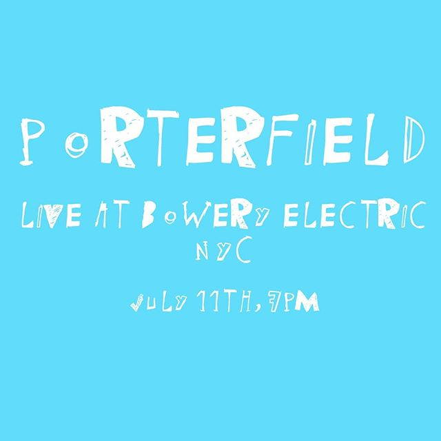 Happening soon!  Come get yer bloops on.  July 11th at 7pm . . . . . . . . . . #livemusic #porterfield #nyc #band #moog #drums #guitar #pedals #jazz #rock #indie #fusion