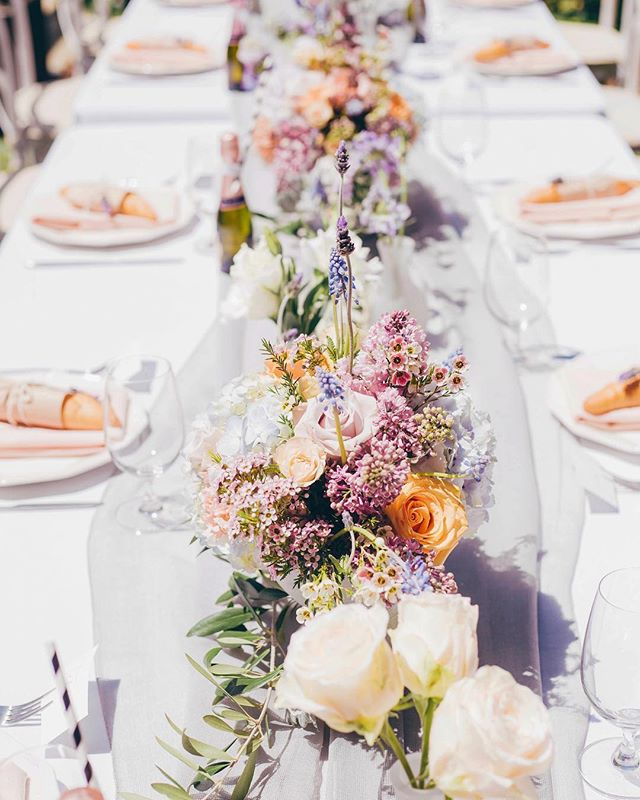 Sharing a little series from Madeleine's bridal shower this week as we prep for her wedding day on Saturday… Can't help but ooh and aww over these pastel French inspired florals and tabletop