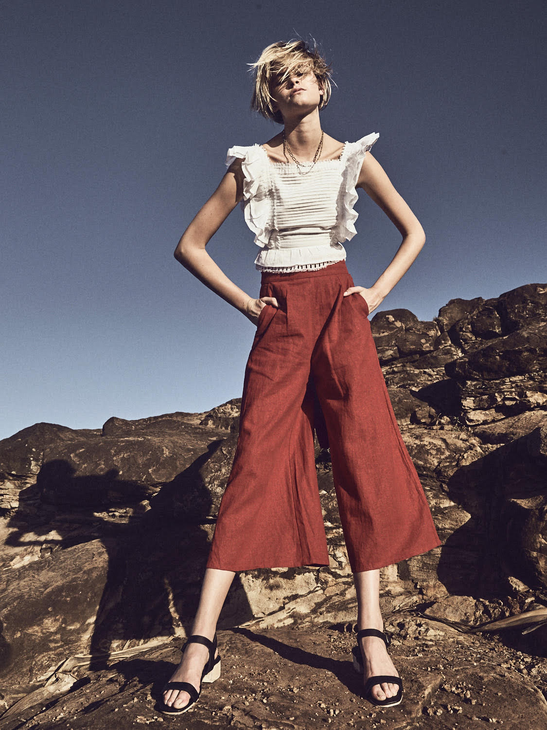 Top    Sir the Label , Trousers    Rue Stiic , Shoes    St Agni , Necklace    Givenchy