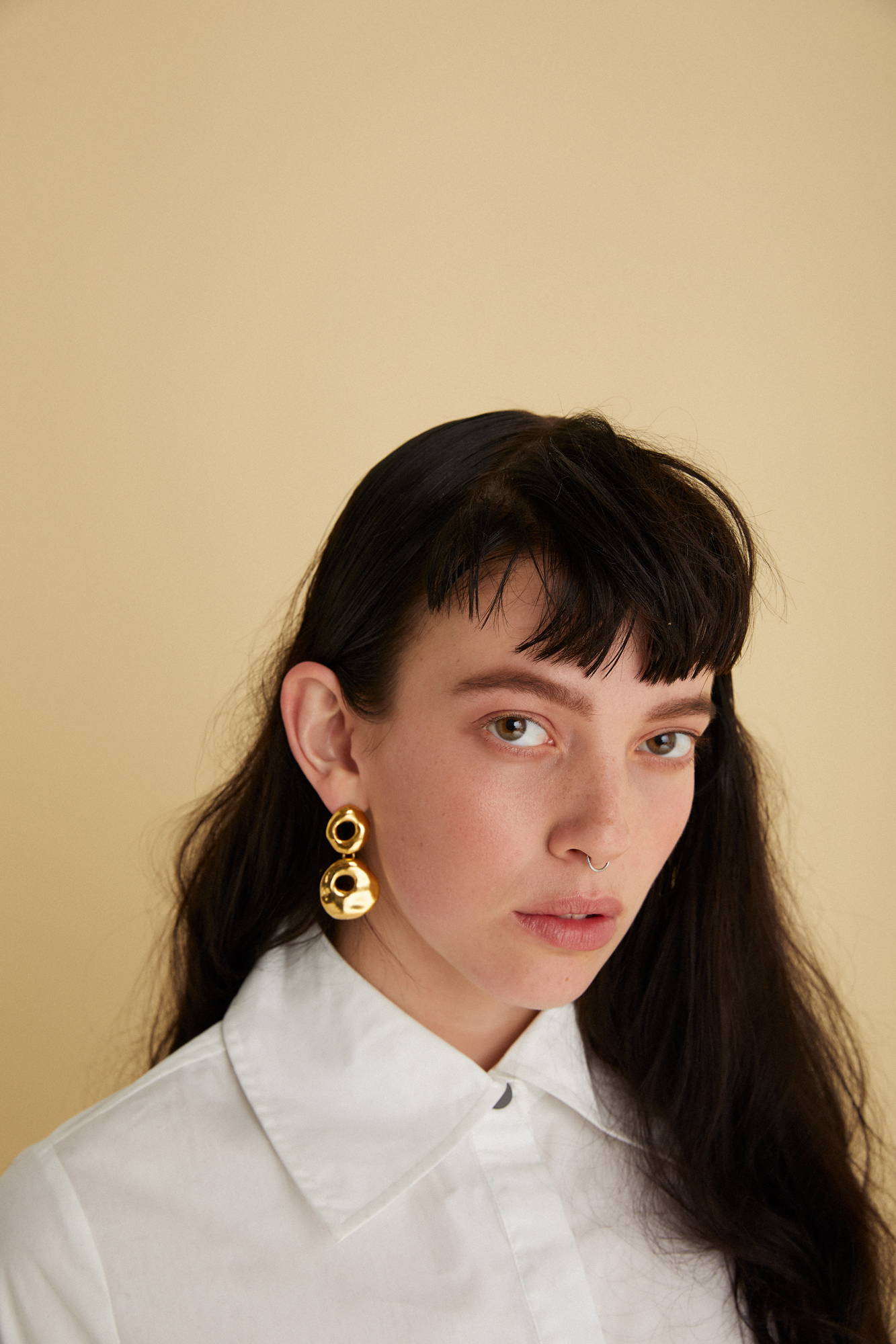 Earrings |  The Line of Sun , Shirt |  Arnsdorf
