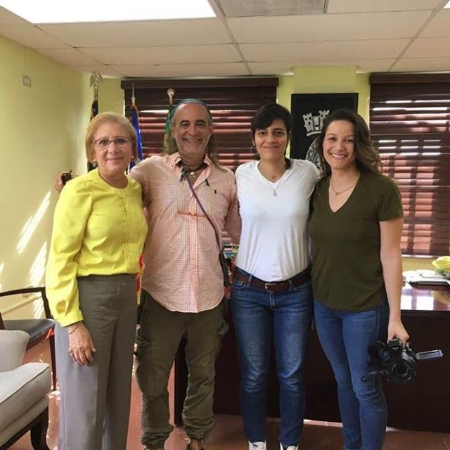 With the Mayor of Loíza and Joffre (social architect and professor)  #lightinginaction #letsturnthelightson #puertorico #loiza