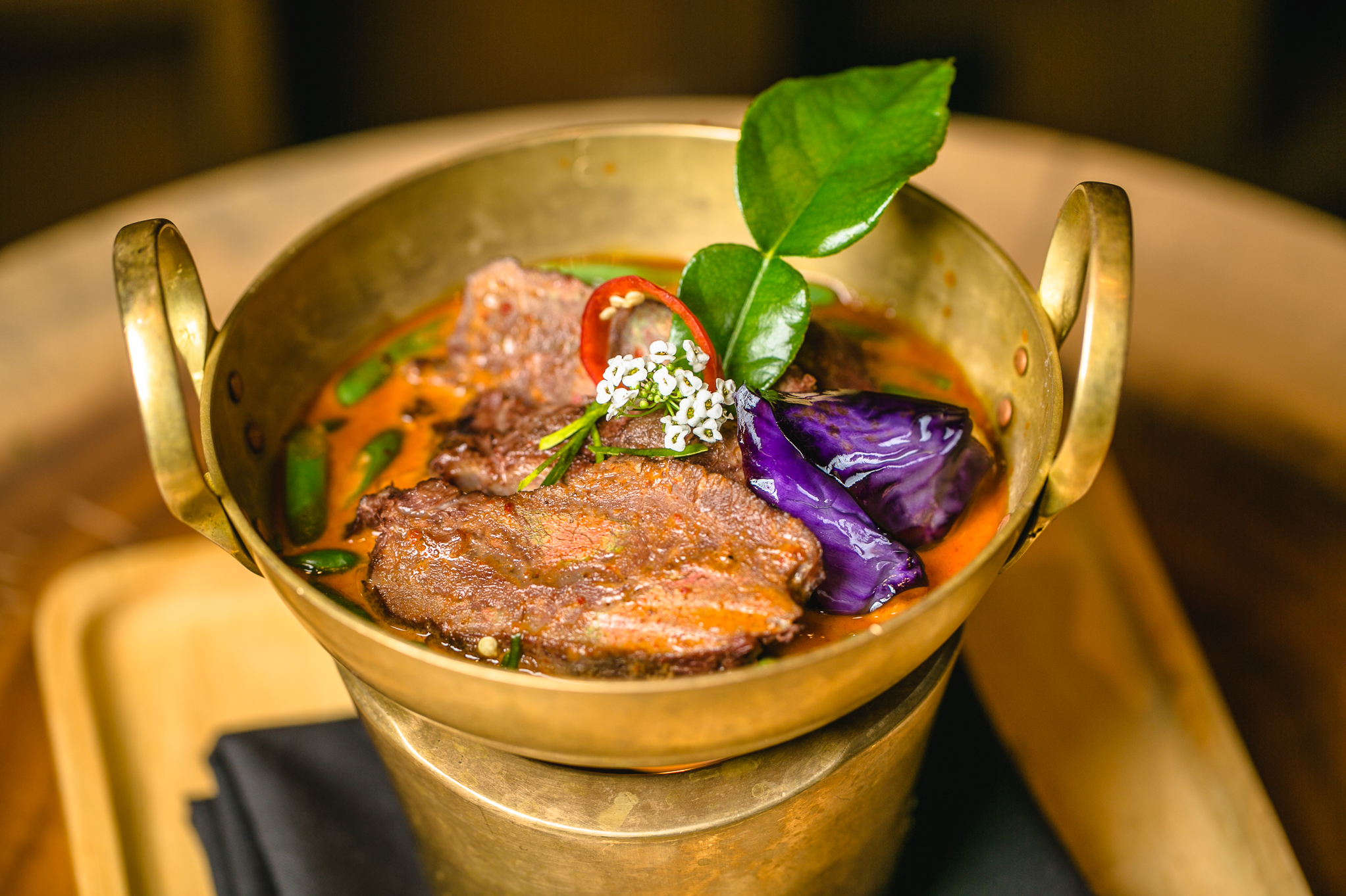 Sous vide beef cheeks panang curry