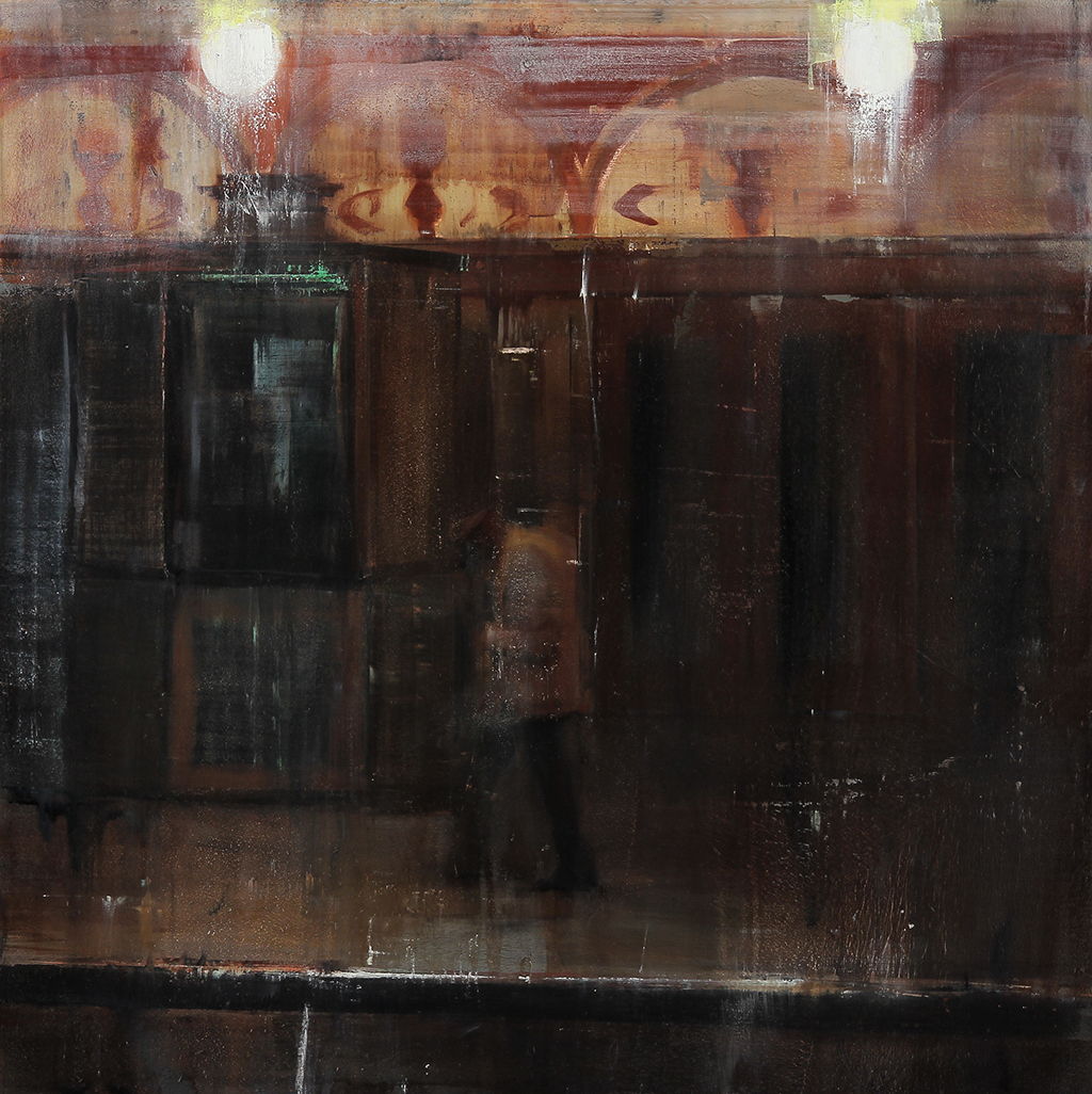 The Castro Theatre 11-12pm  oil on wood     30x30 inches   2012