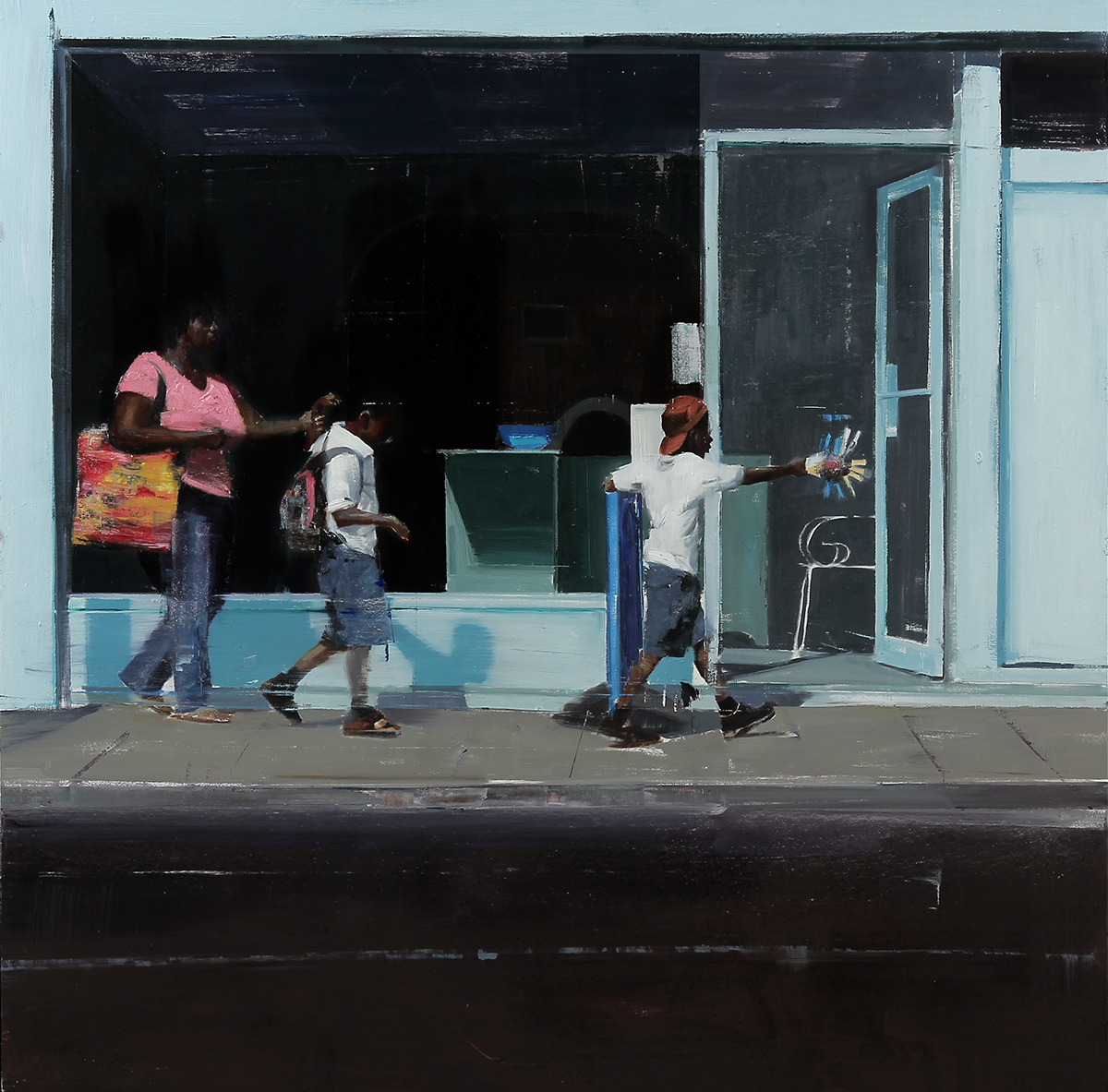 "3-4pm 26a Trinity rd. (Waiting#195)          Oil on wood    36""x36""      2014"