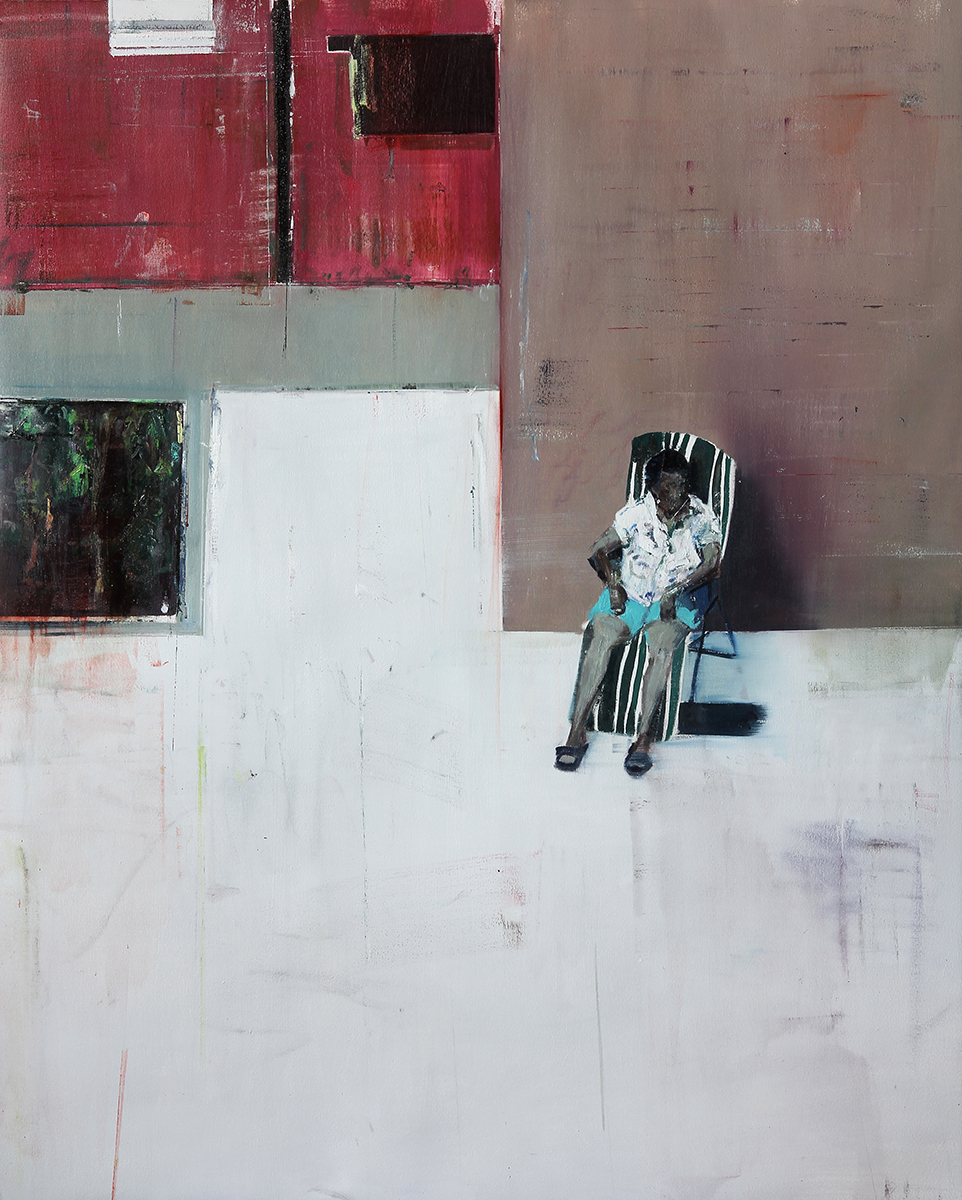"9-10pm Arabian House, 18 Ernest st. (Waiting#200)      Oil on canvas     48""x60""    2014"