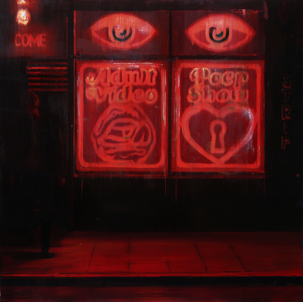 "1-12pm-am La Bodega (Waiting#204)          Oil on wood     36""x36""    2014"