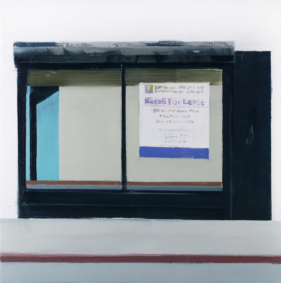 For Lease (Waiting#254)  oil on wood panel  20x20 inches   2015
