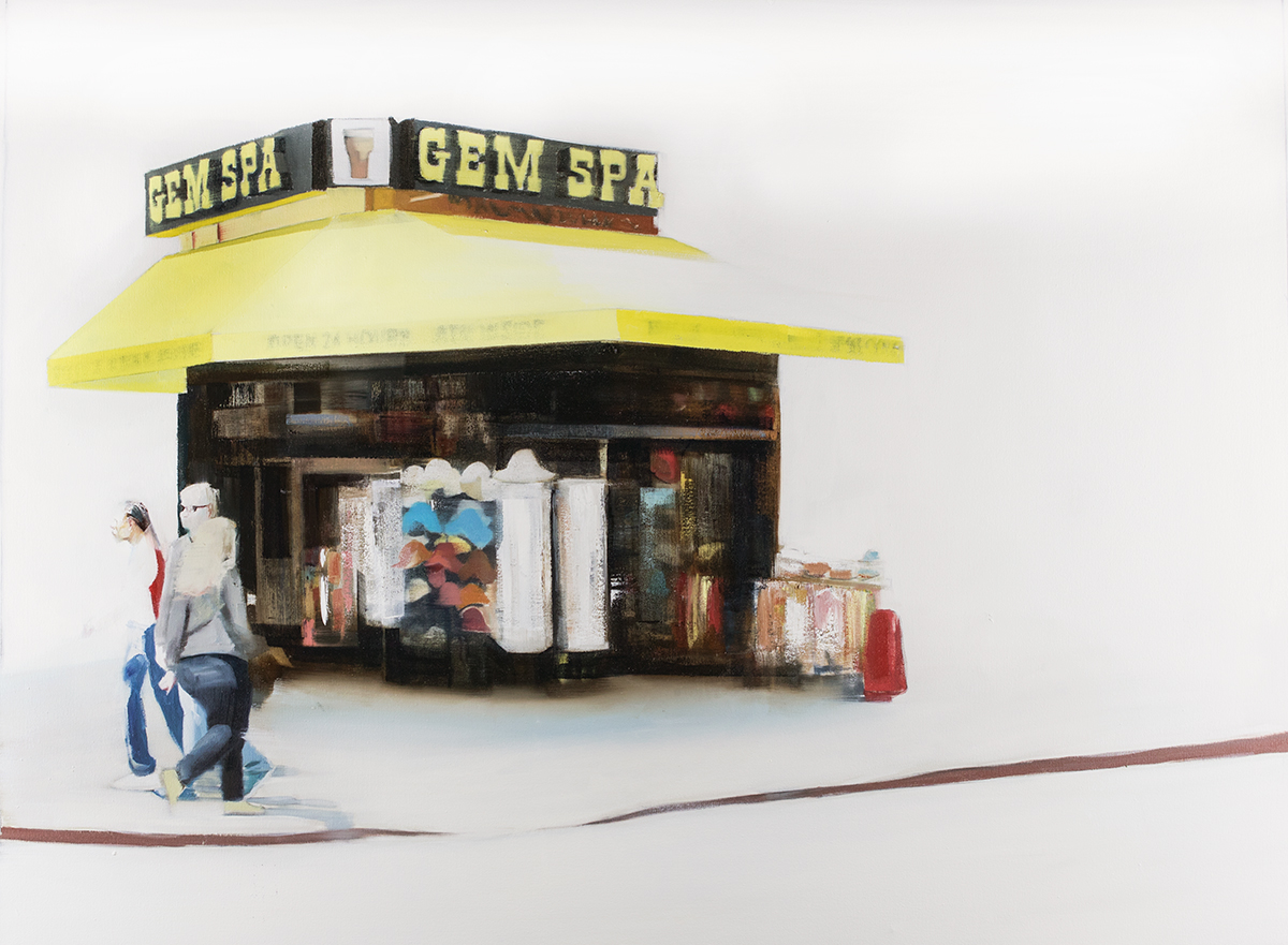 Gem Spa (Waiting#243)   oil on canvas   36x48 inches  2015