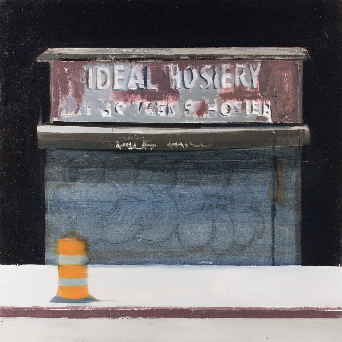 Ideal Hosiery (Waiting#251)  oil on wood panel  20x20 inches   2015