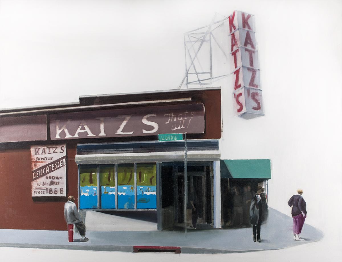Katz Deli (Waiting#244)   oil on canvas   36x48 inches  2015