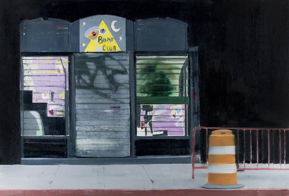 Pyramid Club (Waiting#241)  oil on canvas   24x36 inches   2015