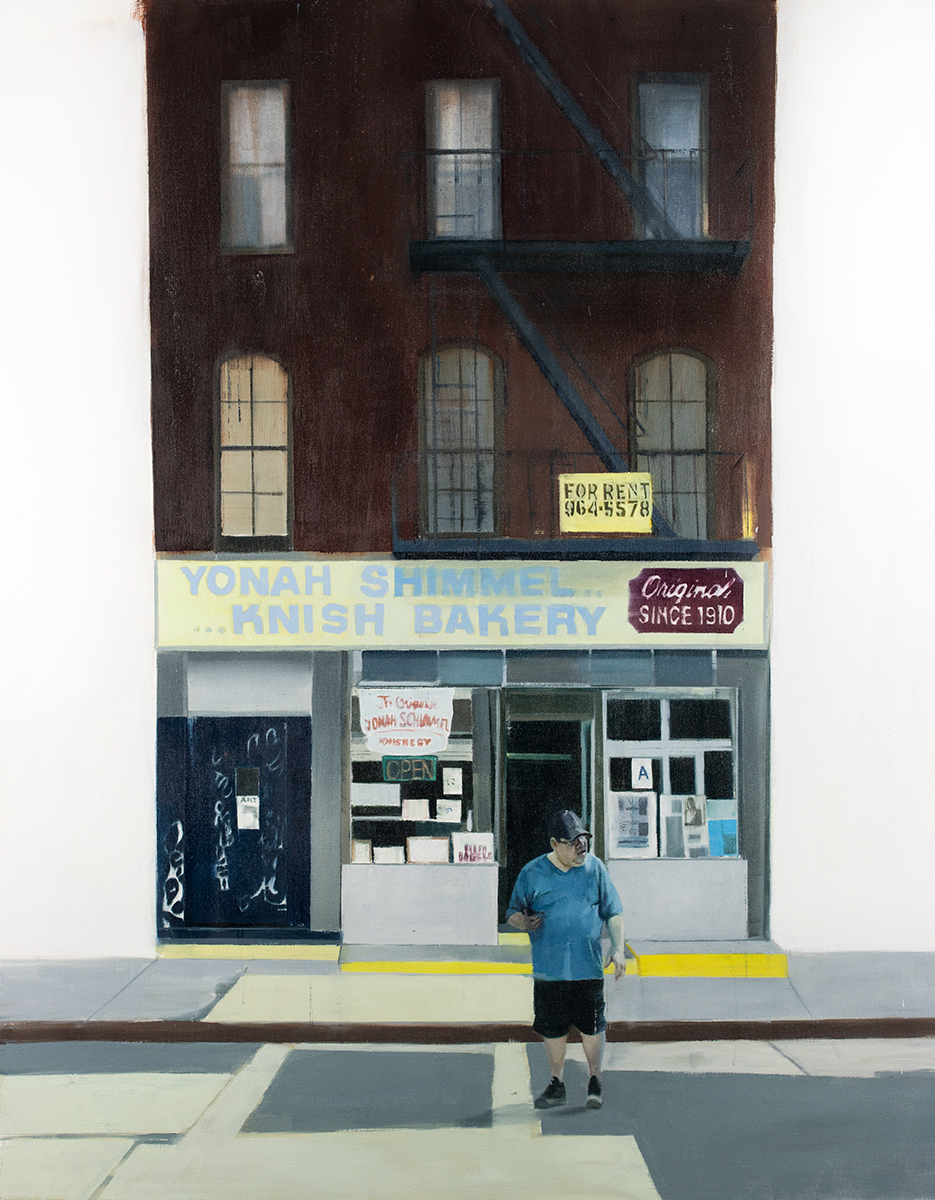 Yonah Shimmel (Waiting#249)      oil on canvas        48x60 inches    2015