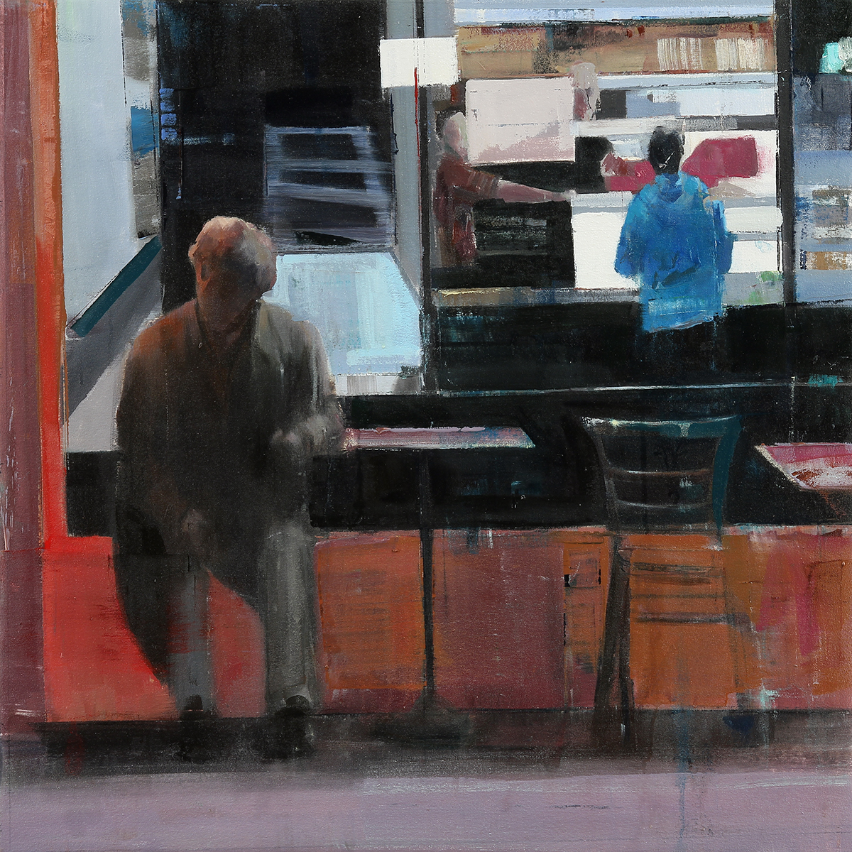 Waiting #231  oil on canvas    2014  30x30 inches
