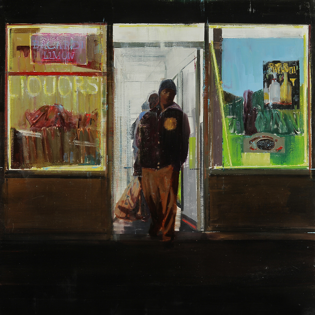 "Waiting #191     oil on board    2013   36""x36"""