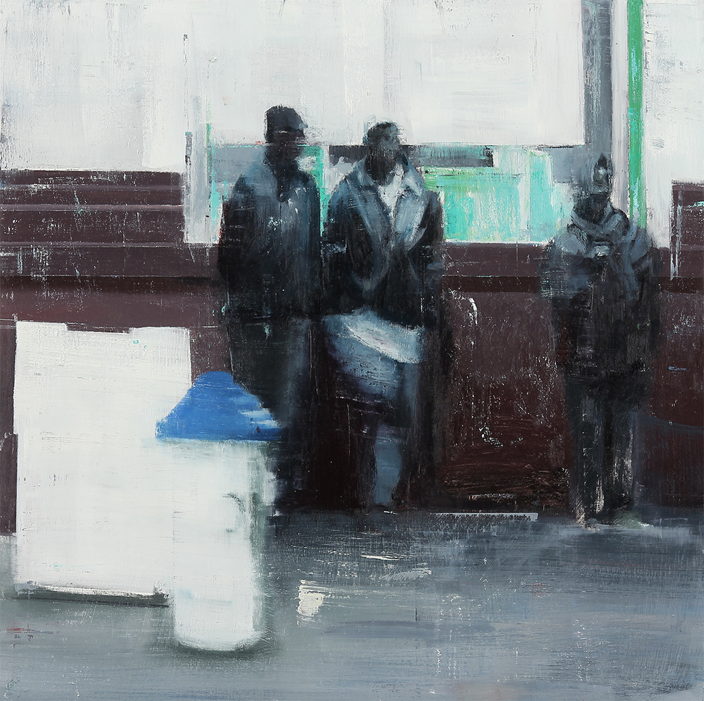 "Waiting #160  oil on wood    2013  30""x30"""