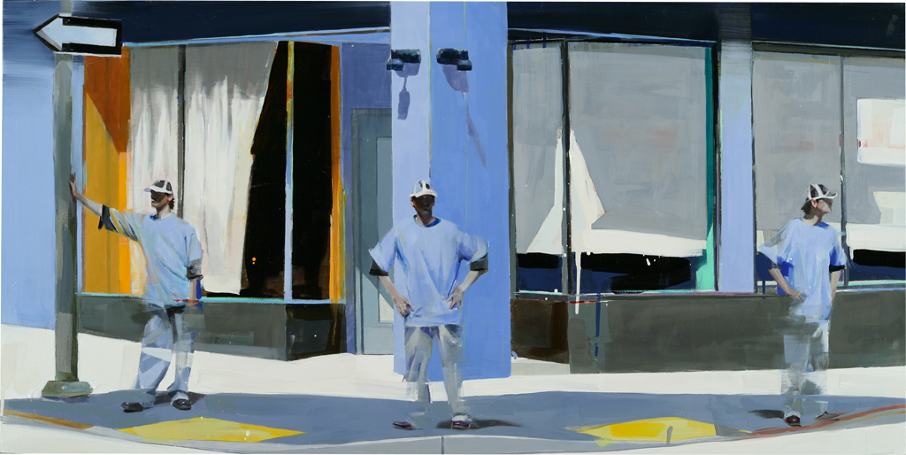 "Waiting #48  oil on wood    2009  24""x48"""