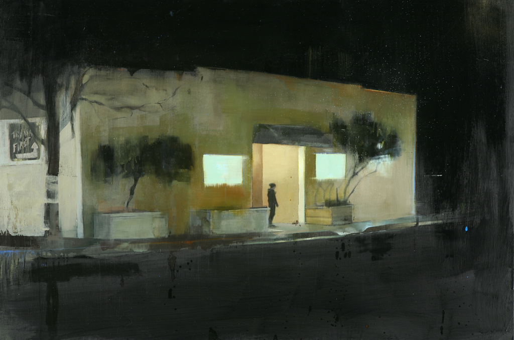 "Waiting #62  oil on wood    2010  24""x36"""